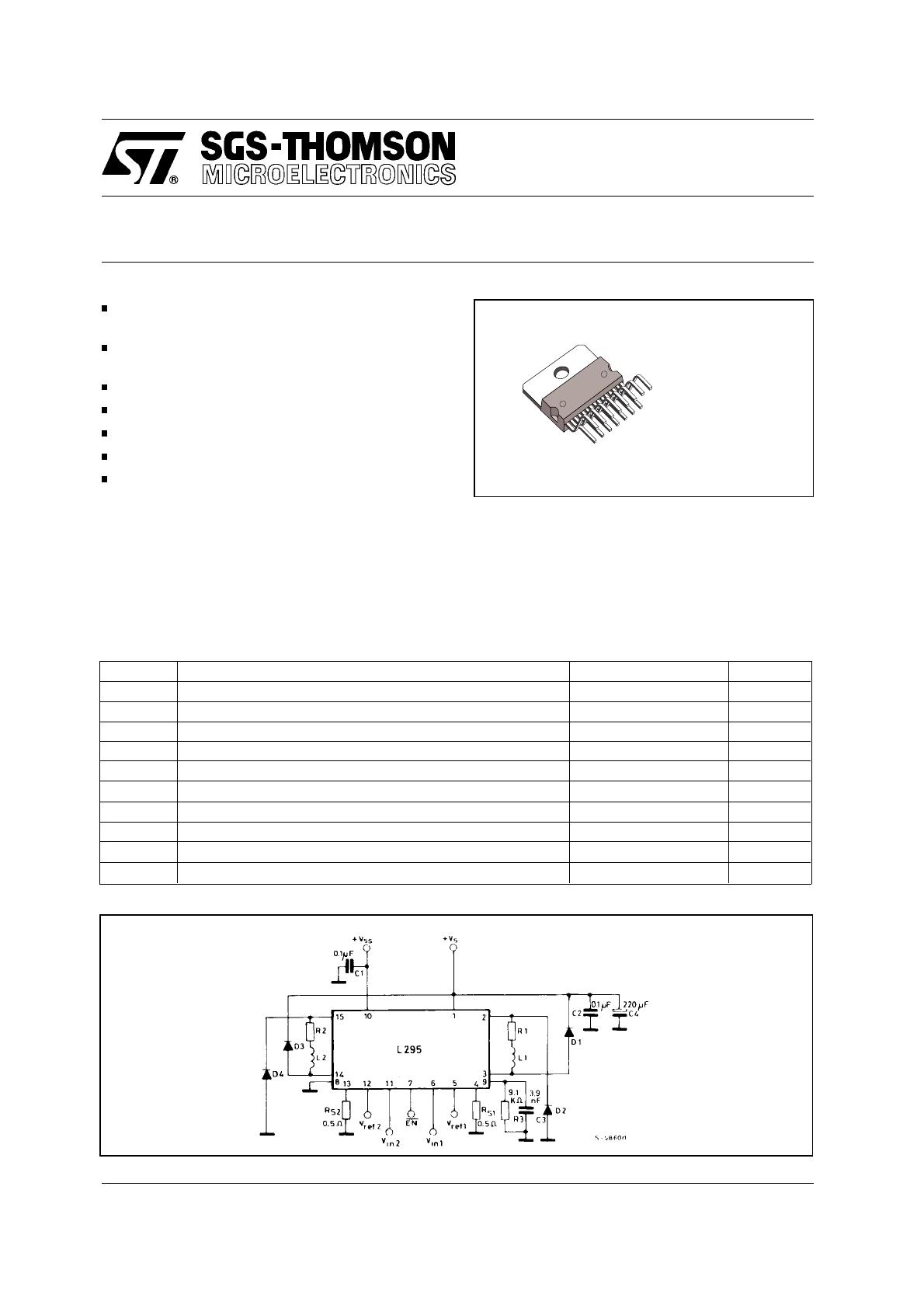 L295 Datasheet. background image. L295