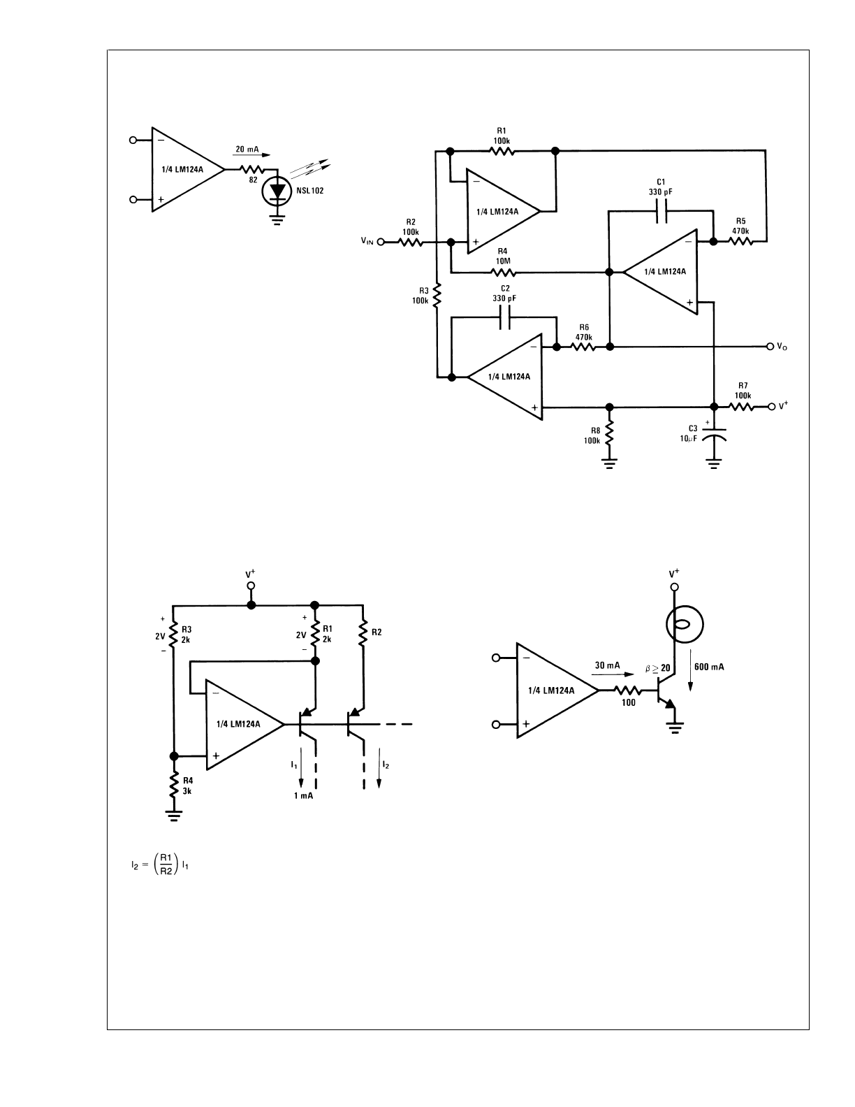 Lm124 Lm224 Lm2902 Lm324 Datasheet Lookup 1khz Bandpass Filter Electronic Circuits Schematics Diagram Background Image